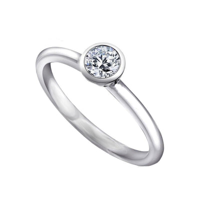 Silver CZ Diamond Stacking Ring - Paul Wright Jewellery