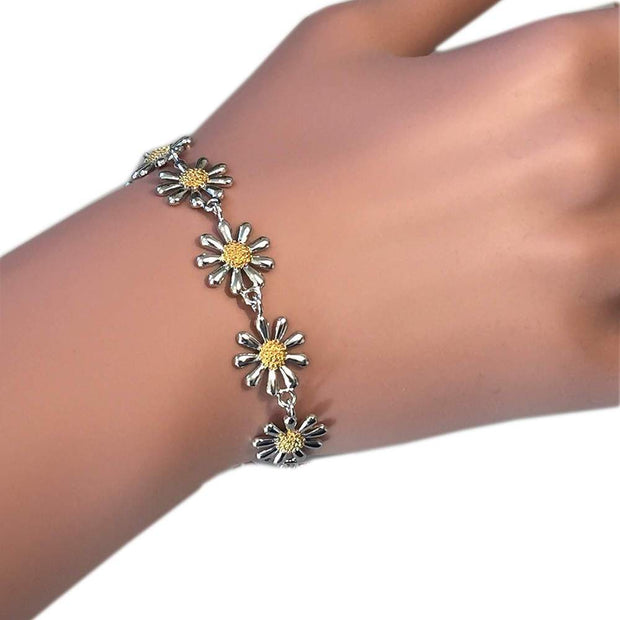 Silver Daisy Chain Bracelet - Paul Wright Jewellery
