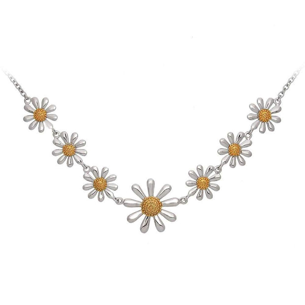 Silver Daisy Chain Necklace - Paul Wright Jewellery