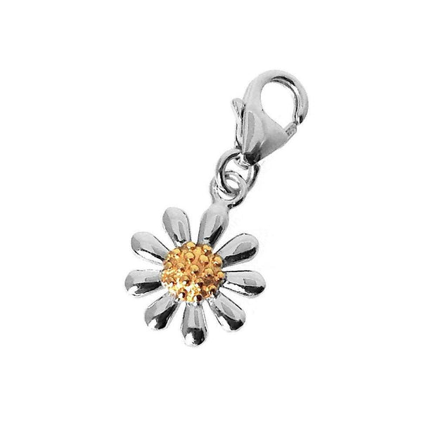 Silver Daisy Clip-on Charm - Paul Wright Jewellery