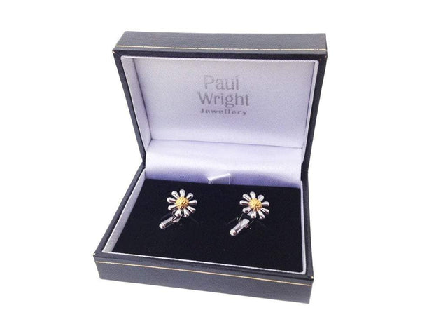 Silver Daisy Cufflinks - Paul Wright Jewellery