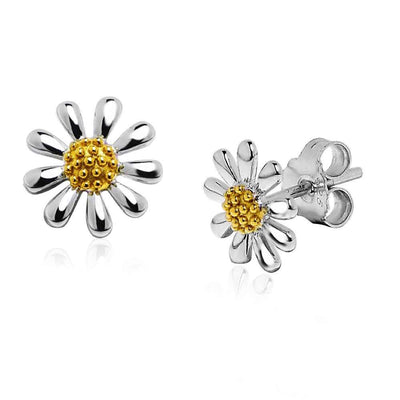 Silver Daisy Earrings 10mm - Paul Wright Jewellery