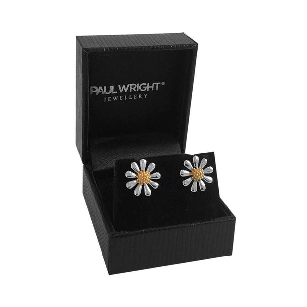 Silver Daisy Earrings 13mm - Paul Wright Jewellery