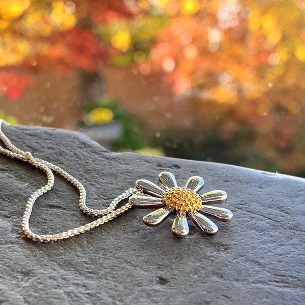 Silver Daisy Necklace 20mm - Paul Wright Jewellery
