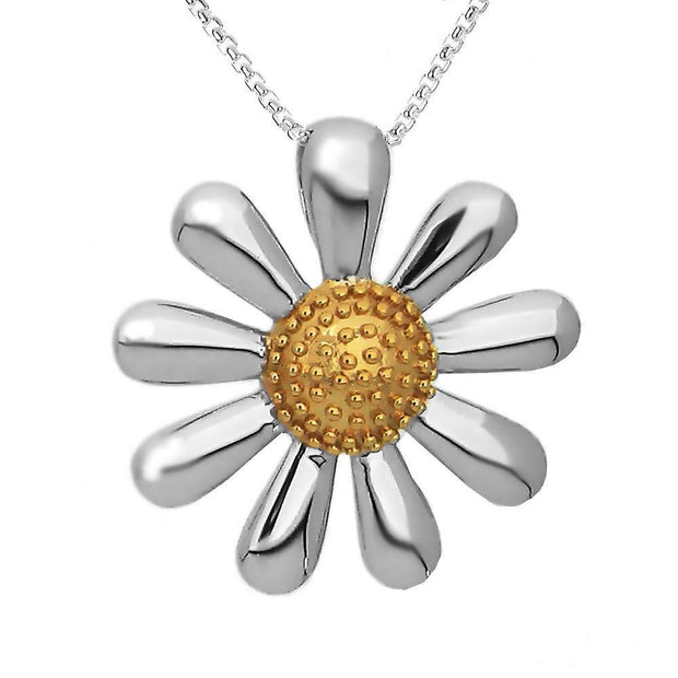 Silver Daisy Necklace 30mm - Paul Wright Jewellery