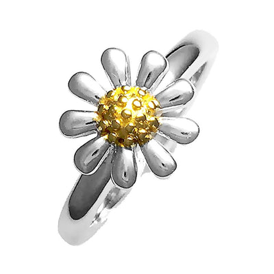 Silver Daisy Ring 10mm - Paul Wright Jewellery