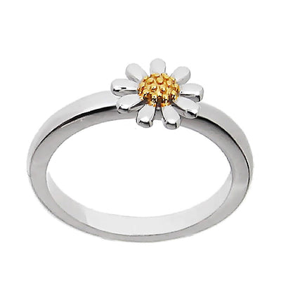 Silver Daisy Ring 7mm - Paul Wright Jewellery