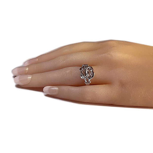 Silver Double Love Knot Promise Ring - Paul Wright Jewellery