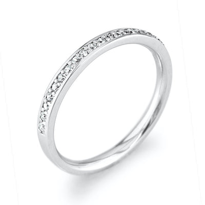 Silver Eternity Stacking Ring, CZ Diamonds - Paul Wright Jewellery