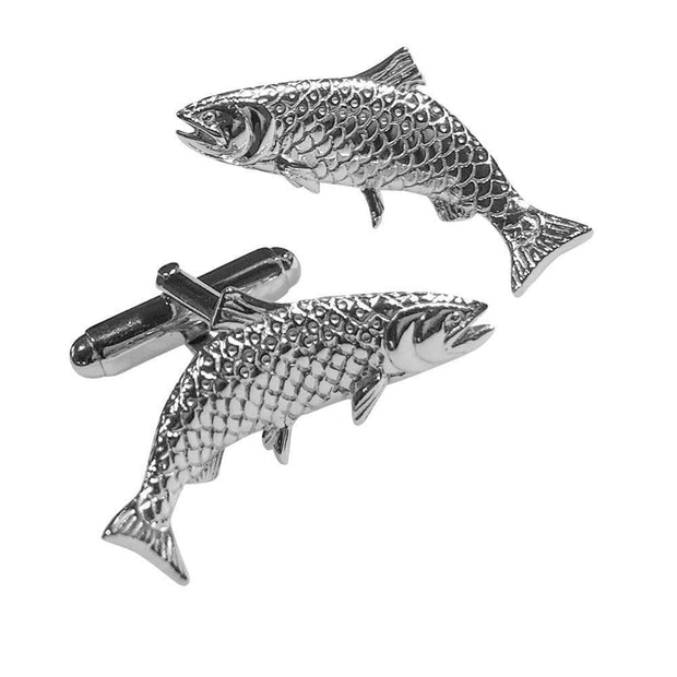 Silver Fish Cufflinks - Paul Wright Jewellery