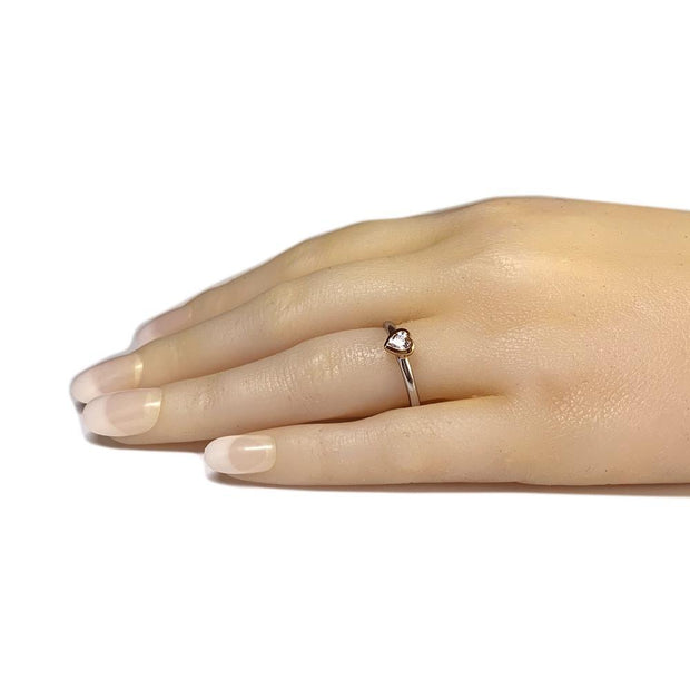Silver Heart Shaped Stacking Ring - Paul Wright Jewellery