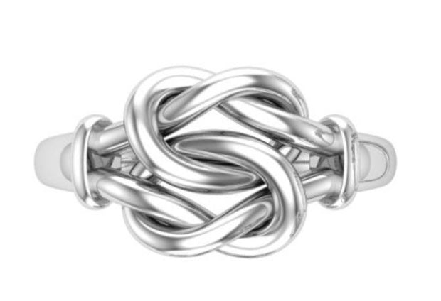 Silver Love Knot Ring - Paul Wright Jewellery