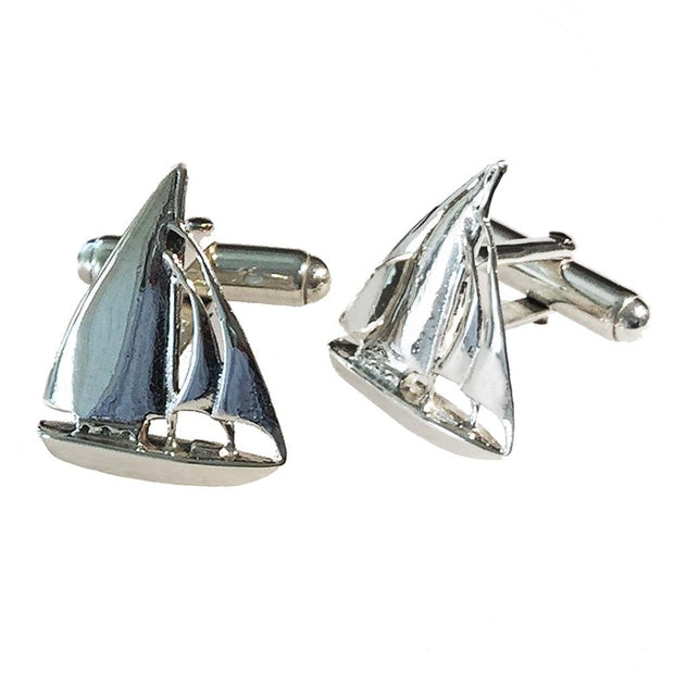 Silver Sailing Yacht Cufflinks - Paul Wright Jewellery