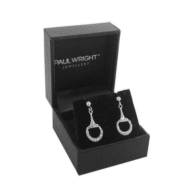 Silver Snaffle Bit Equestrian Earrings - Paul Wright Jewellery