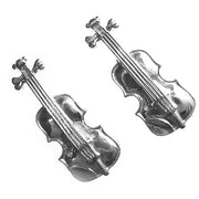 Silver Violin Cufflinks - Paul Wright Jewellery