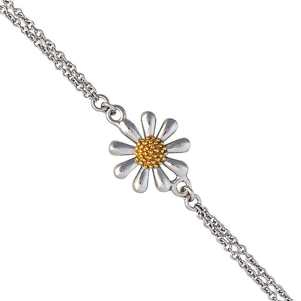 Single Silver Daisy Bracelet - Paul Wright Jewellery