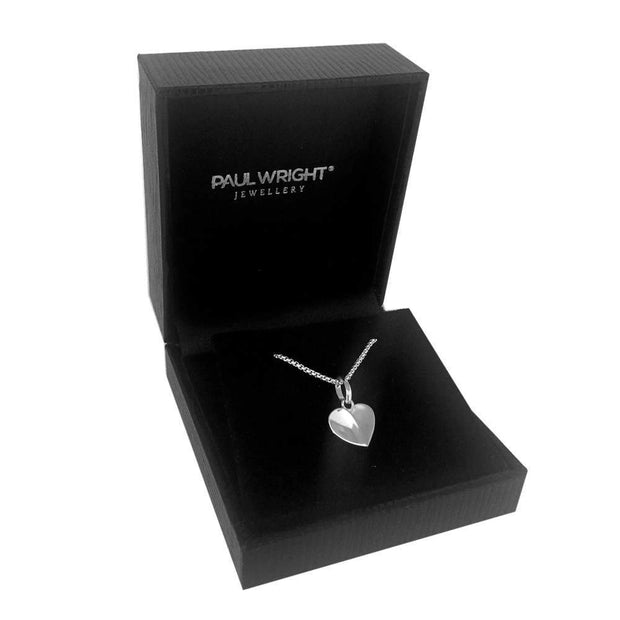 Stylised Heart Shaped Pendant in 925 Sterling Silver Ref AE-P5008 - Paul Wright Jewellery