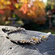 Triple Silver Daisy Bracelet - Paul Wright Jewellery