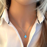 Vibrant Blue Opal Pendant - Paul Wright Jewellery