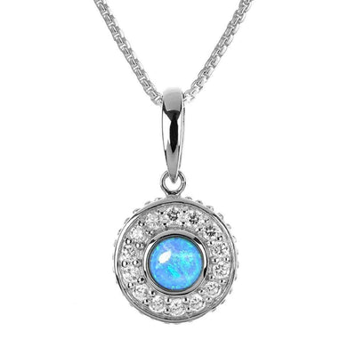 Vibrant Blue Opal Pendant Necklace - Paul Wright Jewellery