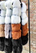 Load image into Gallery viewer, Faux Fur Multi Vest (Camel)