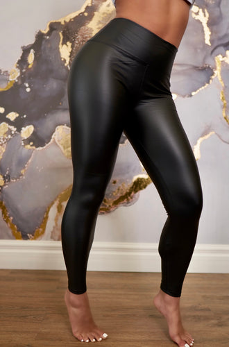 Faux Leather Leggings (Black)
