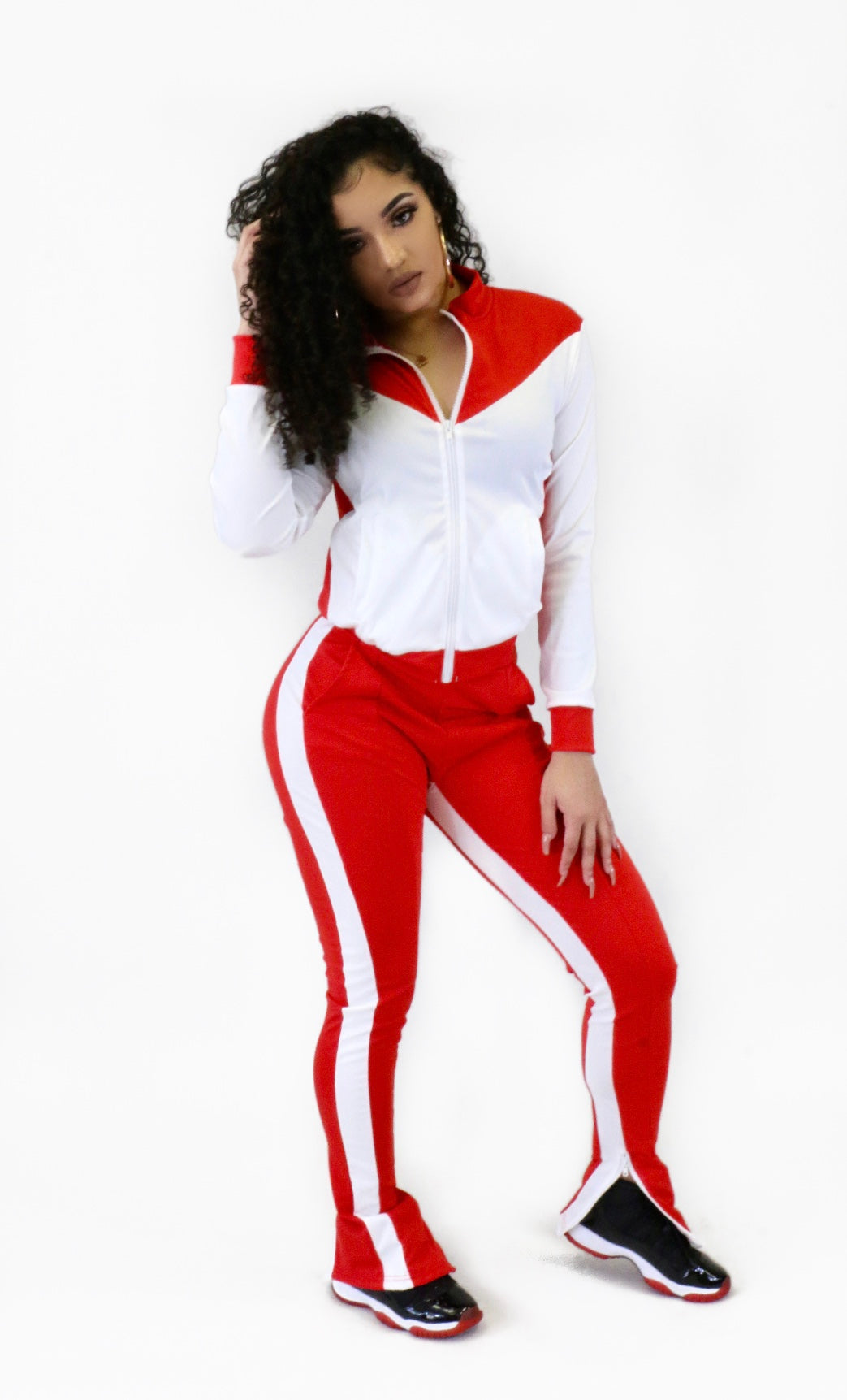 Delta Jogger Set Red/White