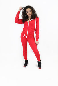 Basics Jogger Set Red