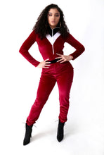 Load image into Gallery viewer, Rachel Burgundy Jumpsuit