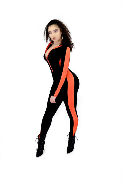 Dual Jumpsuit (Black / Red)
