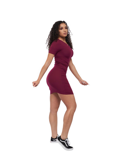 May 5th Dress (Burgundy)
