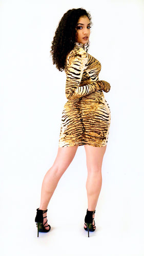 Like a Glove Dress (Tiger)