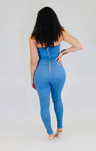 Denim Pants Jumpsuit