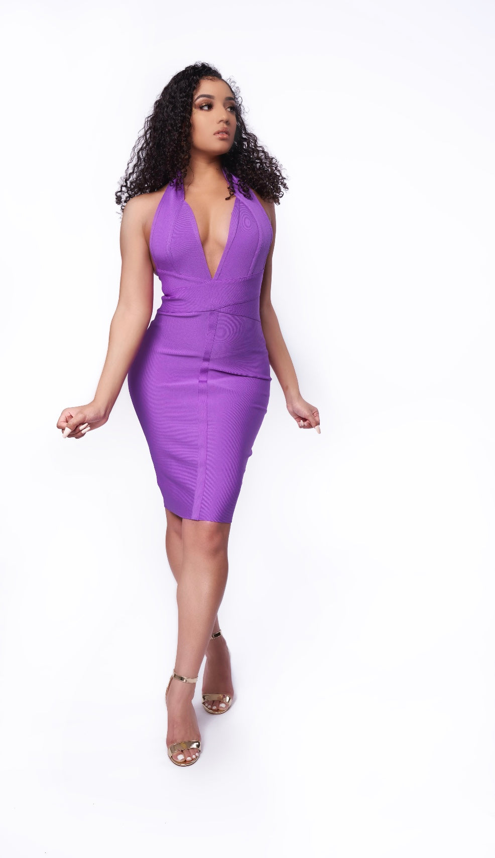 Night Body-Con Dress Purple
