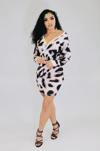 Sweater Cheetah Dress