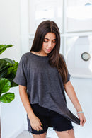 Willow Tee In CHARCOAL***
