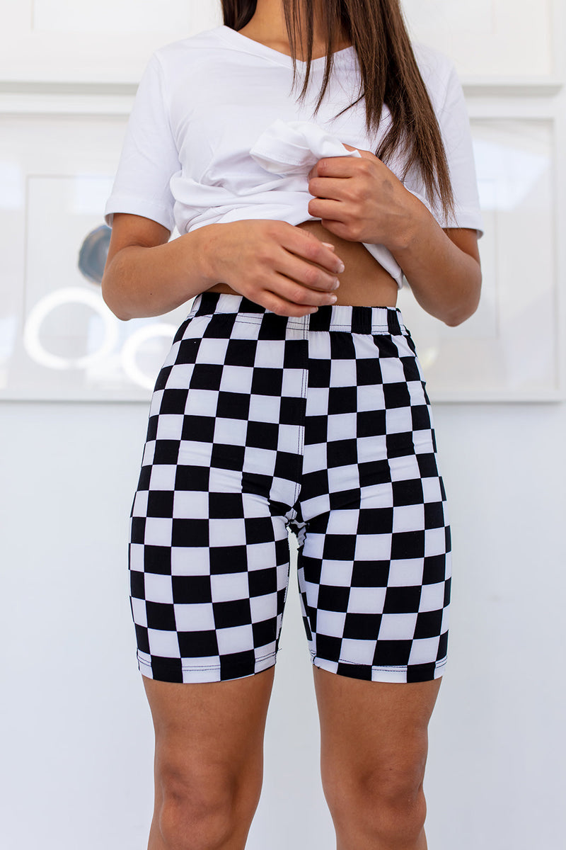 Checkered Biker Shorts RESTOCKED***