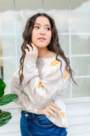 Ditzy Daisy Sweater In NUDE***