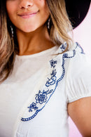 Luisa Embroidery Top