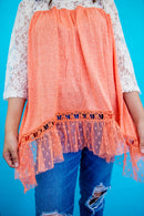 Princess Peach Lace Top
