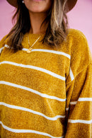 Follow The Gold and Striped  Sweater