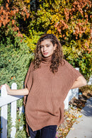 Brielle Turtle Neck Poncho Sweater