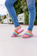 Rainbow Bright Slide Sandals