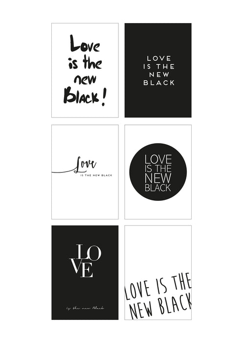 Black Edition Postkarte: 6er Set