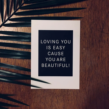 Love Edition Postkarte: Loving you is easy