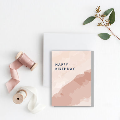 Happy Birthday watercolour Card