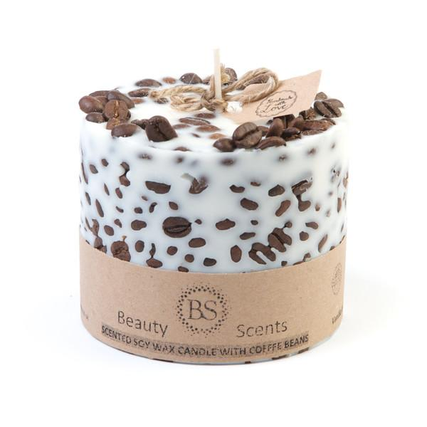 Soy Wax Candle with Coffee Beans (6er)