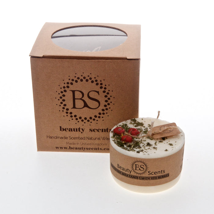 Soy Wax Candle With Red Berries (6er)