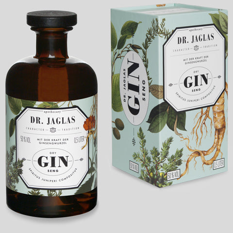 DRY GIN -SENG,  500 ML, 50%VOL, Navy Gin, zuckerfrei