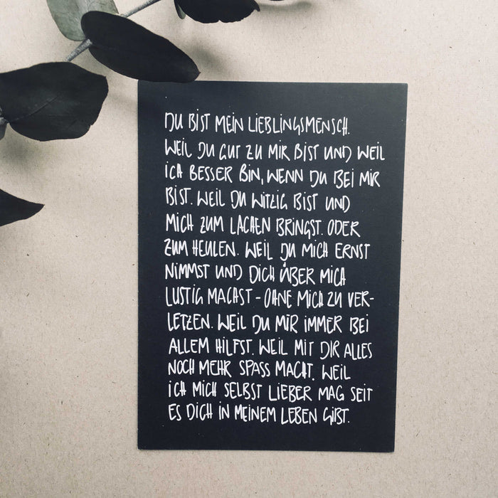 Text Edition Postkarte: 6er Set